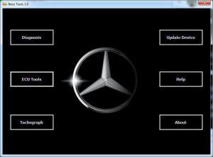 نمایی از برنامه ویندوزی دستگاه بنزتولز - BENZ Tools - محصول تولیدی شرکت هوپاد نوین الکترونیک شرق - پروگرامر و مینی دیاگ بنز