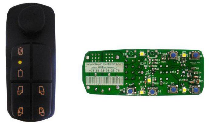 محصول تولیدی شرکت هوپاد نوین الکترونیک شرق - کلید شیشه بالابر بنز