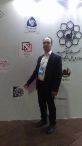 آقای مهندس رحمانی مدیر عامل شرکت هوپاد نوین الکترونیک شرق مهرماه 97 معاونت حمل و نقل مشهد، نمایشگاه بین المللی مشهد